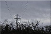 SY0088 : Pylon by Moor Lane by N Chadwick