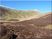SJ0731 : Across Llyn Lluncaws to Cadair Berwyn by Richard Law