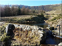 SJ0832 : Small reservoir in Cwm Maen Gwynedd by Richard Law