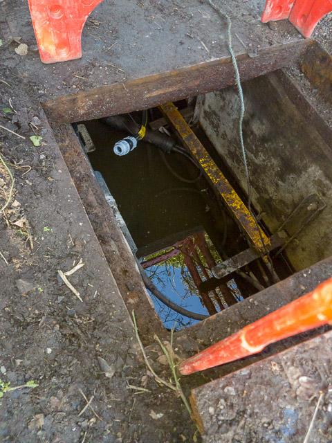 Manhole on Whites Hill