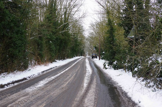 A wintry view of Kingsway, Stourport-on-Severn