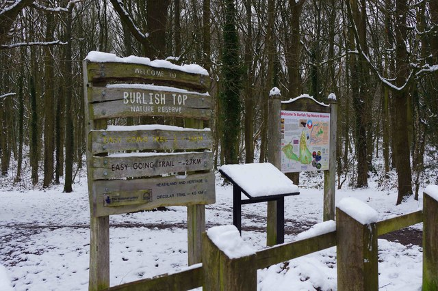 Sign and information board, Burlish Top Nature Reserve, Stourport-on-Severn