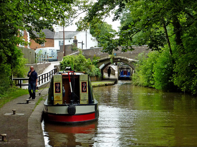 Coventry Canal in Atherstone, Warwickshire