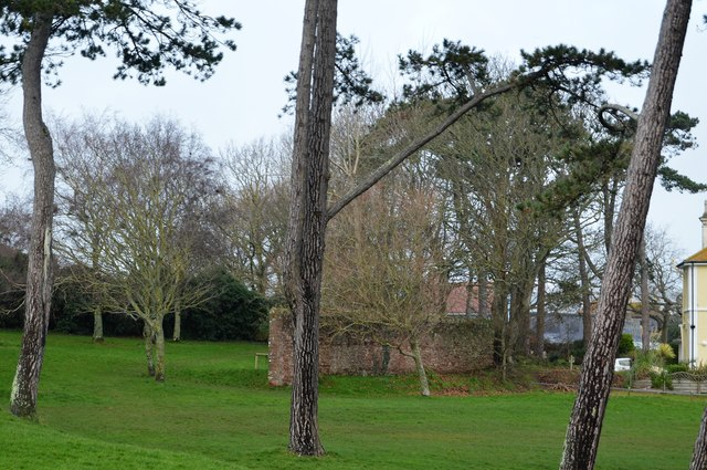 Pillbox in trees, Roundham Point