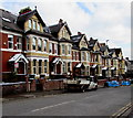 ST3087 : Snow remnants, Stow Hill, Newport by Jaggery