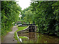 SP3097 : Lock No 4 at Atherstone in Warwickshire by Roger  Kidd