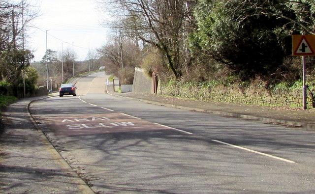 Gwscwm Road towards the centre of Pembrey