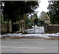 ST2987 : Risca Road entrance to St Woolos Cemetery, Newport by Jaggery