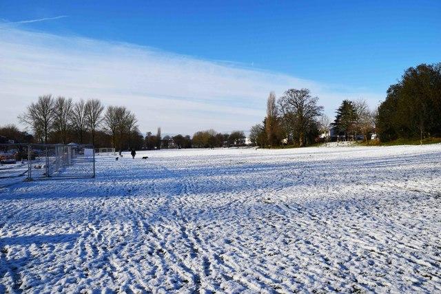 Snow in Sanders Park, Bromsgrove, Worcs