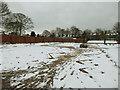 SE2435 : Bramley Park - flower garden in the snow by Stephen Craven