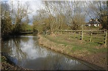 SP2853 : Ford on the River Dene by Philip Halling