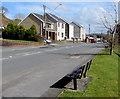 SN4401 : Roadside bench, Gwscwm Road, Burry Port by Jaggery