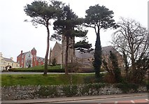 J4844 : The red-brick Neo-Gothic Convent of Mercy, Downpatrick by Eric Jones