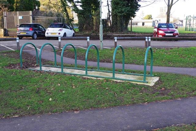Cycle rack, The Leys, Witney, Oxon