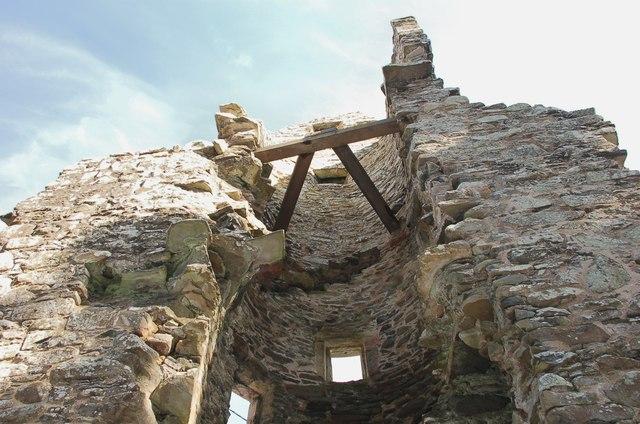 Stairway in Torwoodlee Tower