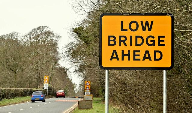 Quot Low Bridge Quot Sign Clandeboye Bangor 169 Albert Bridge