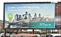 "J3674 : Aer Lingus ""Philadelphia"" poster, Belfast (March 2018) by Albert Bridge"