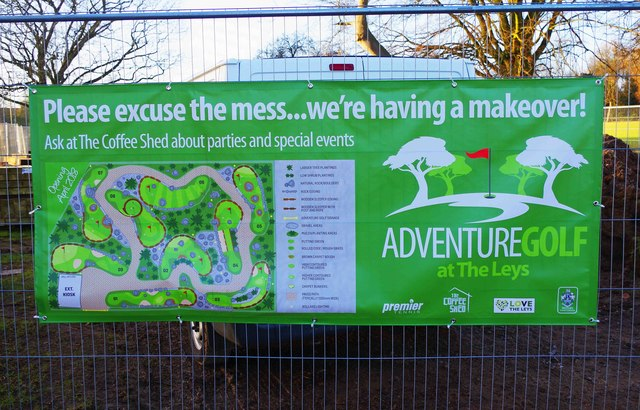Temporary information board, The Leys, Witney, Oxon
