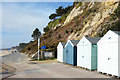 SZ0790 : Last Beach Huts in Bournemouth by Des Blenkinsopp