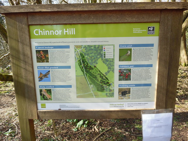 Information Board at Chinnor Hill