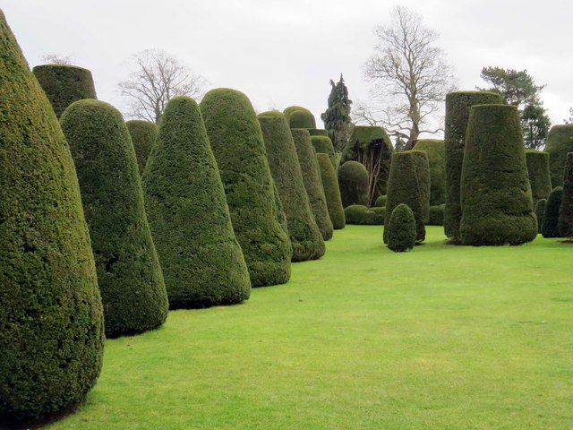 The Yew Garden at Packwood House