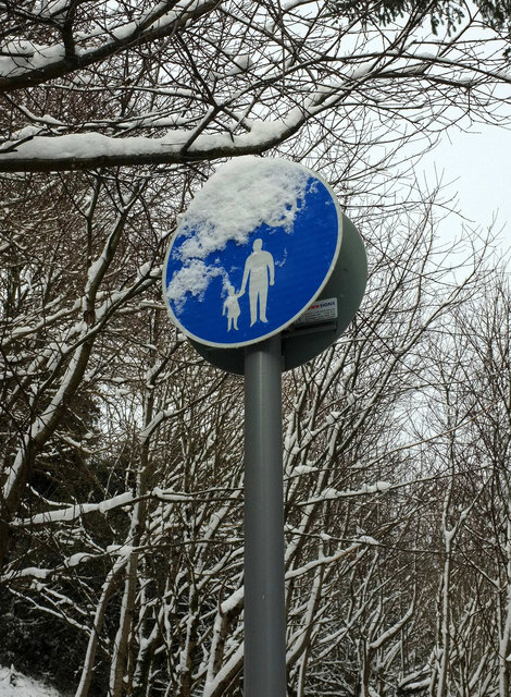 Snow on sign near Torre Station