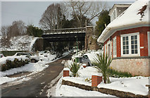 SX9064 : Entrance drive to Rowcroft Hospice, Torquay, in the snow by Derek Harper