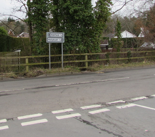 Direction and distance signs, Two Locks Road, Cwmbran
