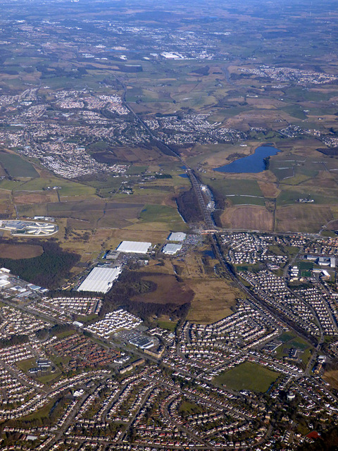 Bishopbriggs and Lenzie from the air by Thomas Nugent