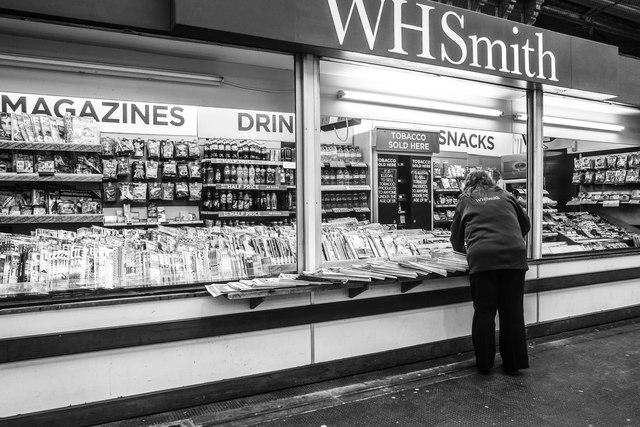 WH Smith news-stand, Crewe Railway Station