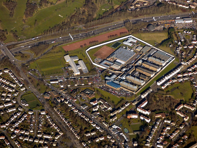 HMP Barlinnie from the air