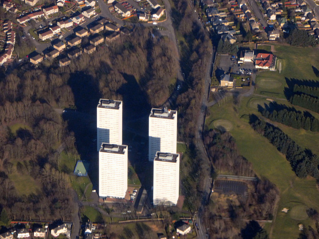 Sandyhills towerblocks from the air