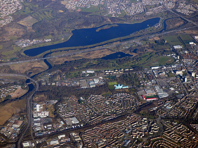 Burnbank and Strathclyde Loch from the air