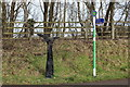 ST1594 : Signposts on eastern approach to Hengoed Viaduct by M J Roscoe