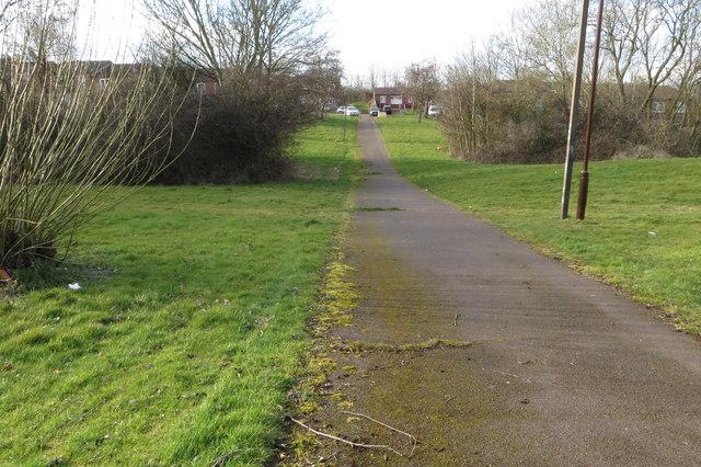 Path to Walbrook Avenue