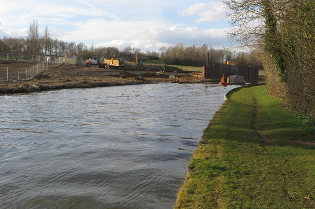 Building works for the new marina