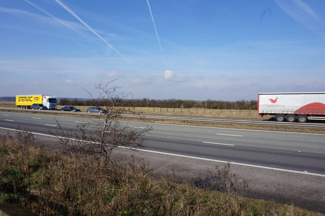 The M180 at Wrawby Carrs