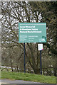 TQ3405 : Lawn Memorial & Woodland Valley Natural Burial Ground sign by Adrian Cable