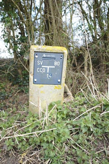 Stop valve sign