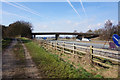 TA0008 : Grammar School Lane goes over the M180, Brigg by Ian S