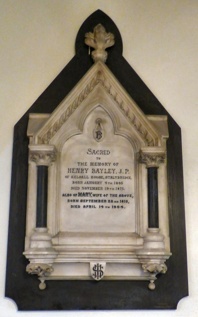 Memorial to Henry Bayley