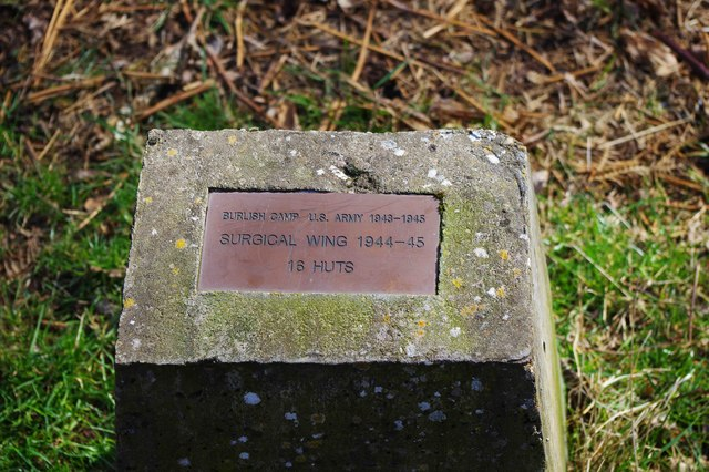 Plaque regarding Burlish Camp surgical wing, Burlish Top Nature Reserve, Stourport-on-Severn