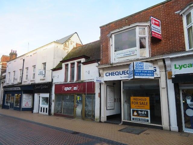 Shops along Winchester Street