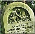 TG2109 : The grave of Elizabeth Caroline Wright (detail) : Week 13