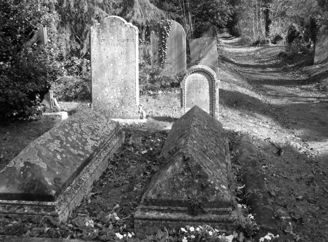 Old graves on the edge of Section 6