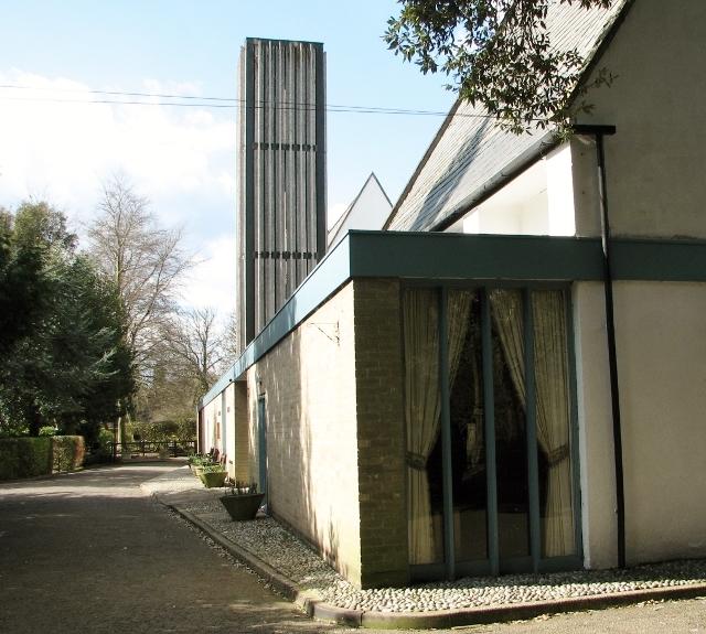 Road past the crematorium building