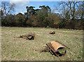SU7289 : Three Rollers in a Field by Des Blenkinsopp