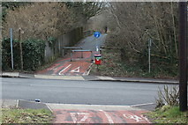 ST1494 : Cycle route crossing Penallta Road by M J Roscoe