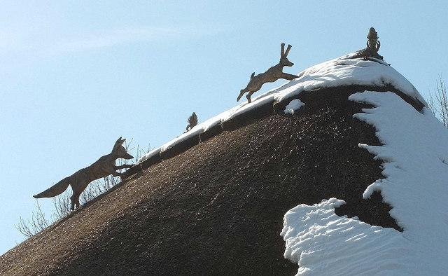 Fox and hare, Cockington forge