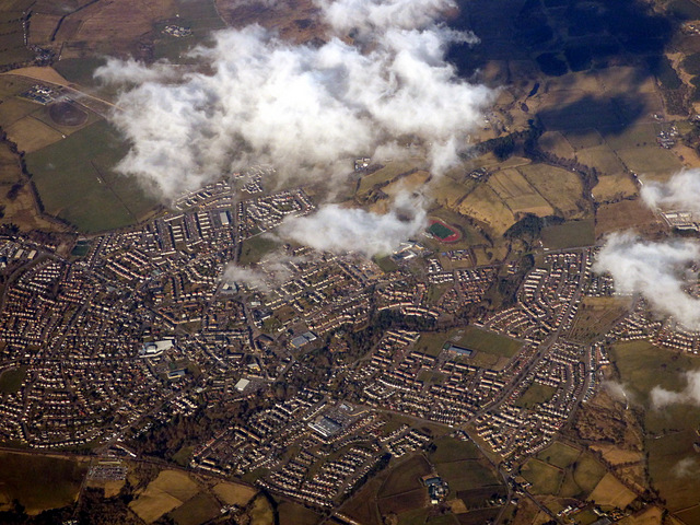 Carluke from the air